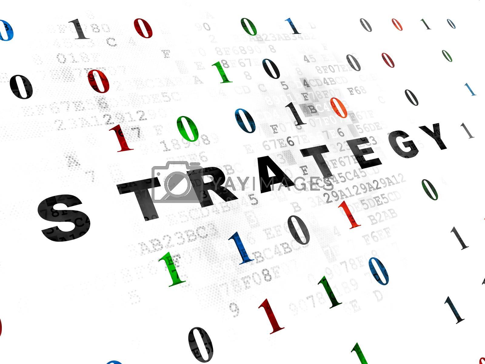 Finance concept: Strategy on Digital background by maxkabakov