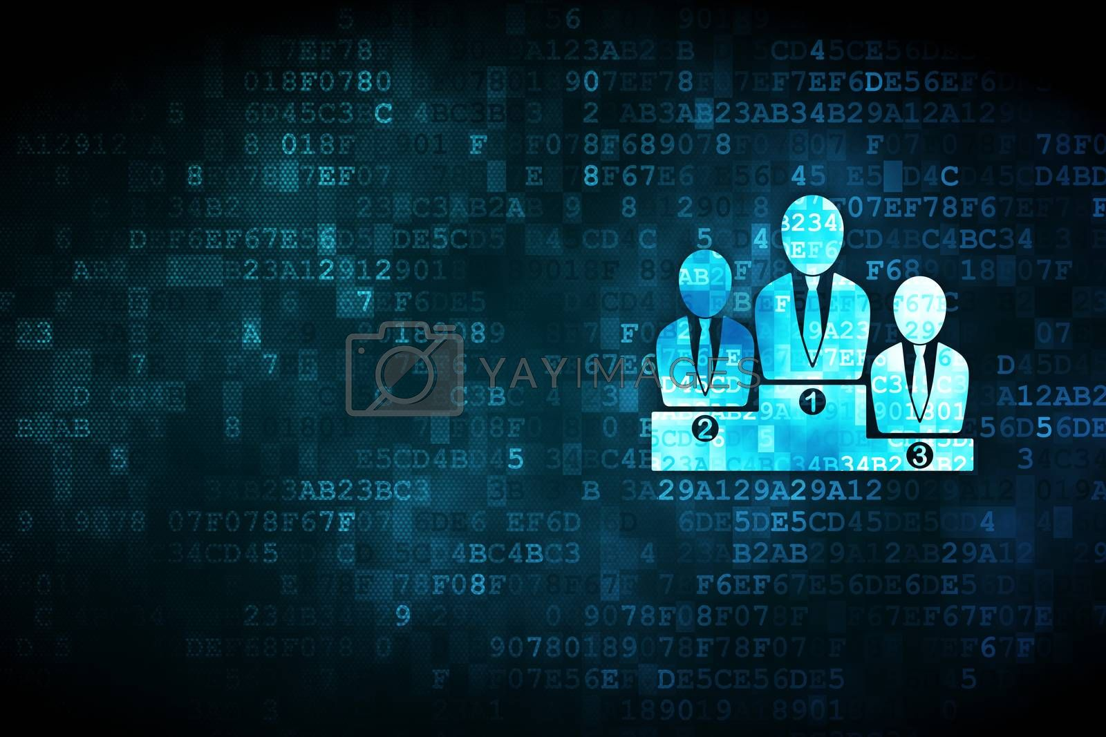 Business concept: Business Team on digital background by maxkabakov