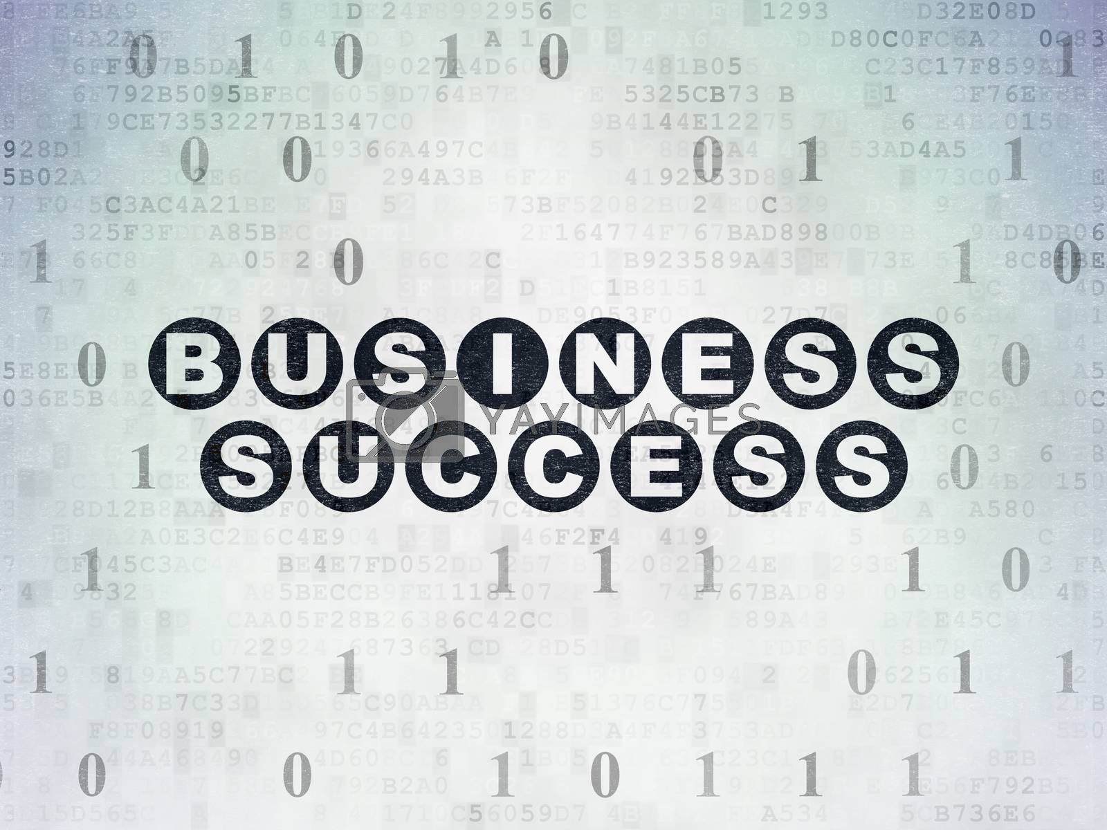 Business concept: Business Success on Digital Paper background by maxkabakov