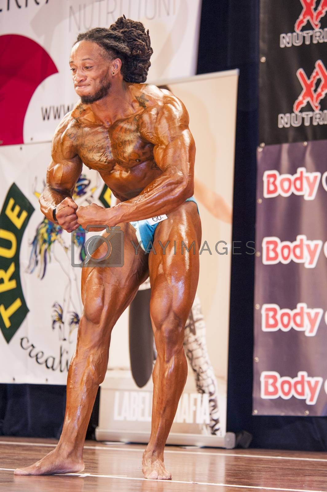 Male bodybuilder Grego Francisca shows his most muscular pose by yellowpaul