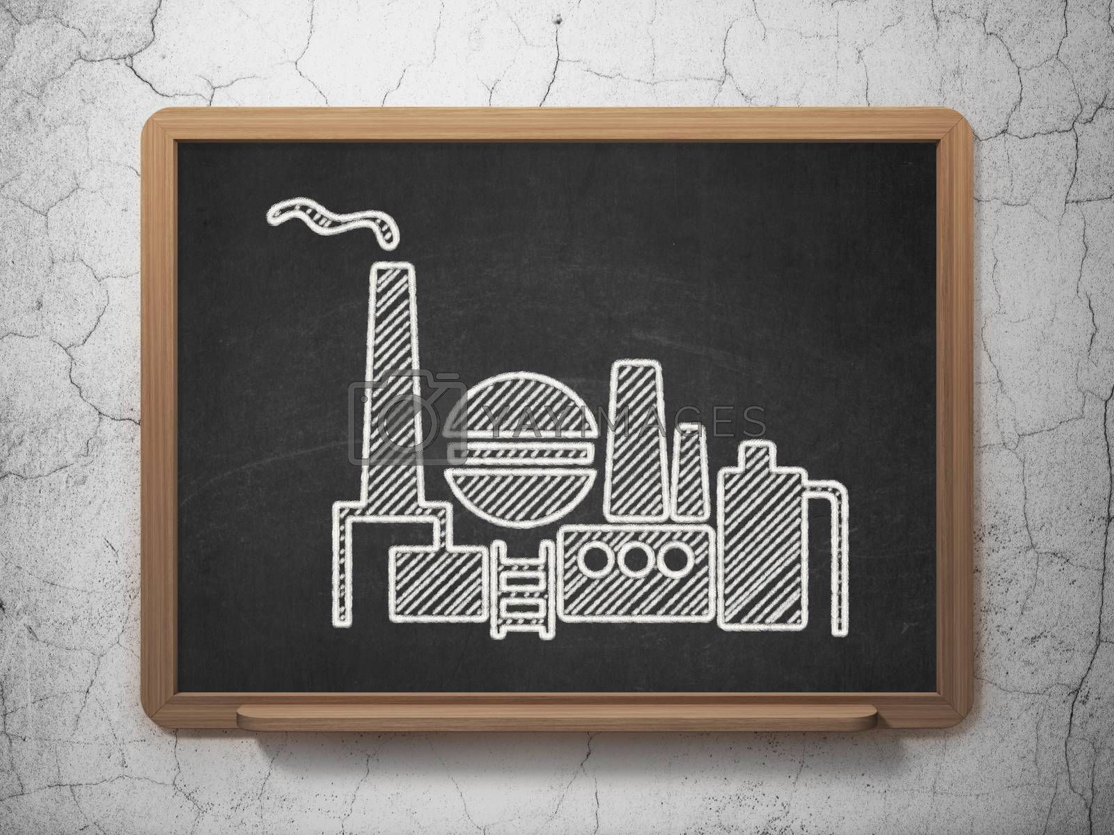 Finance concept: Oil And Gas Indusry on chalkboard background by maxkabakov