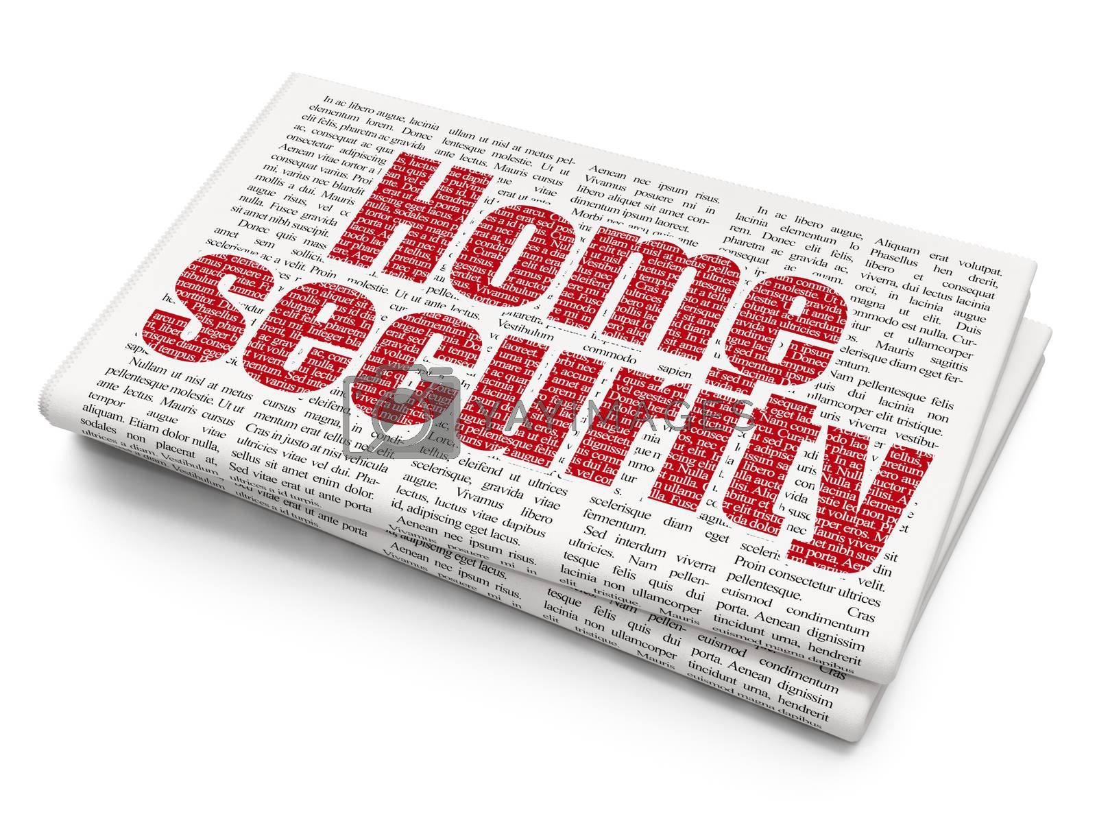 Privacy concept: Home Security on Newspaper background by maxkabakov