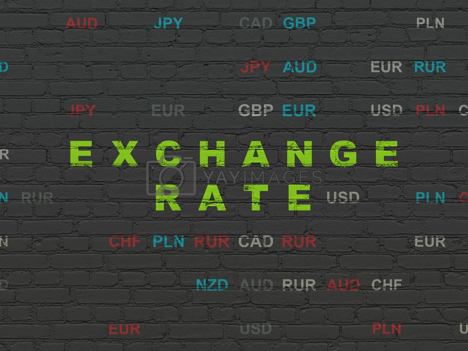 Currency concept: Exchange Rate on wall background by maxkabakov
