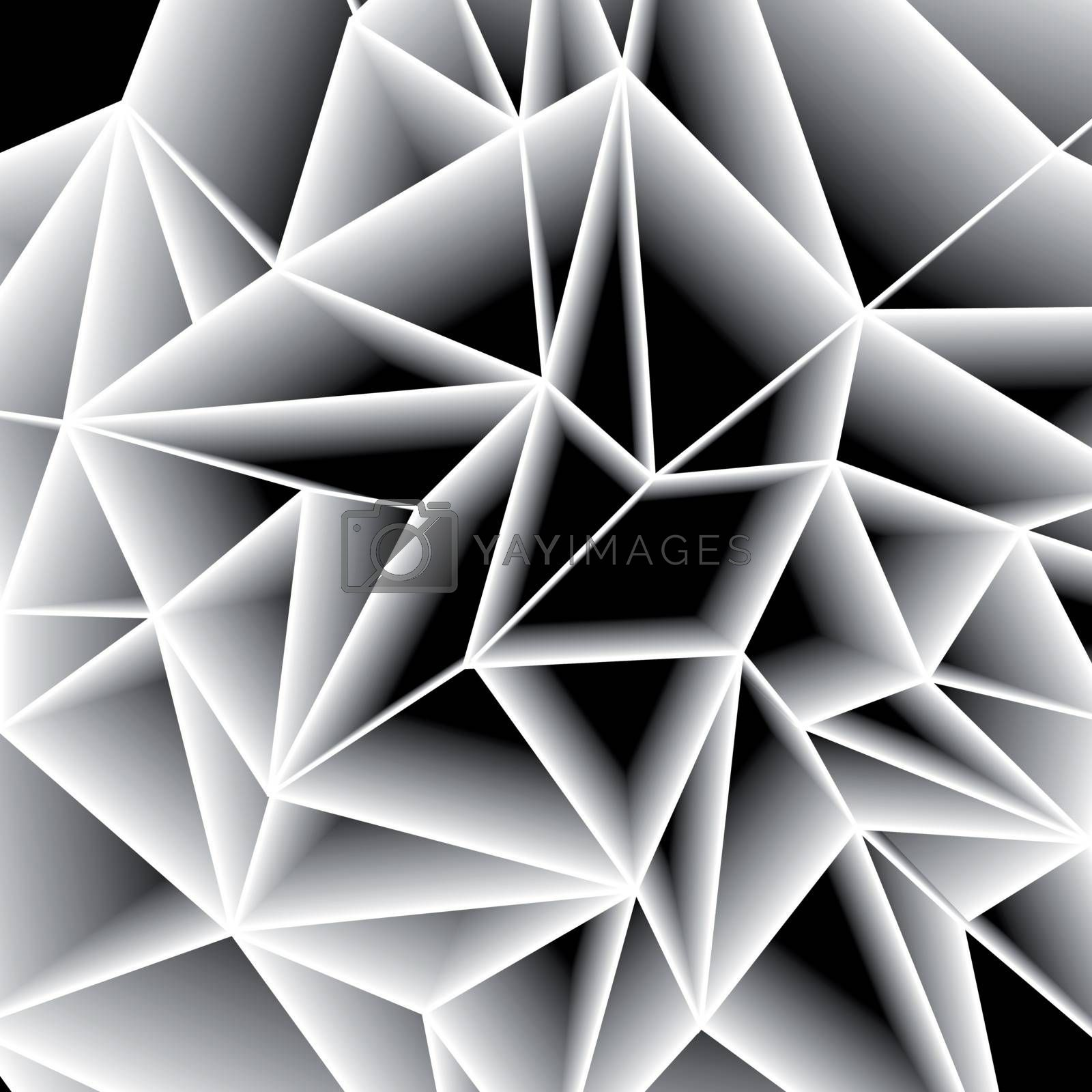 Abstract paper gray triangle background by sermax55