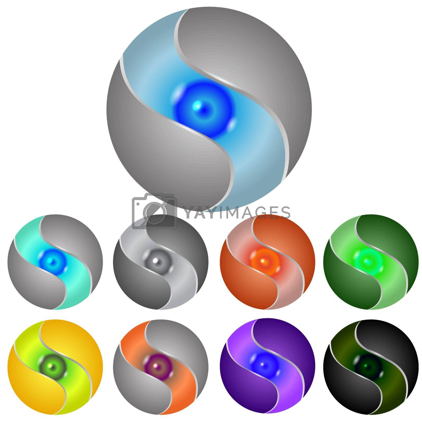 Set of Different Spheres by valeo5