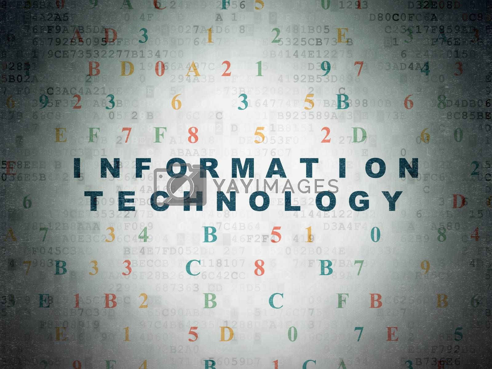 Information concept: Information Technology on Digital Paper background by maxkabakov