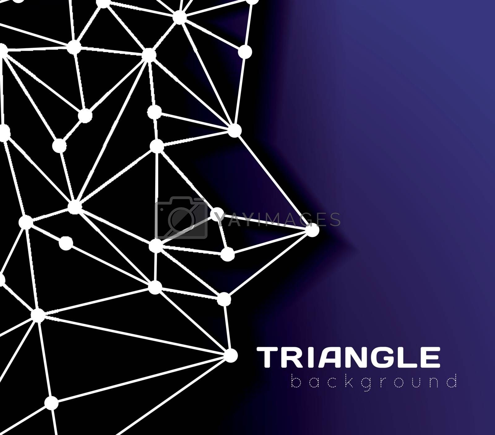 Abstract network connection background by sermax55