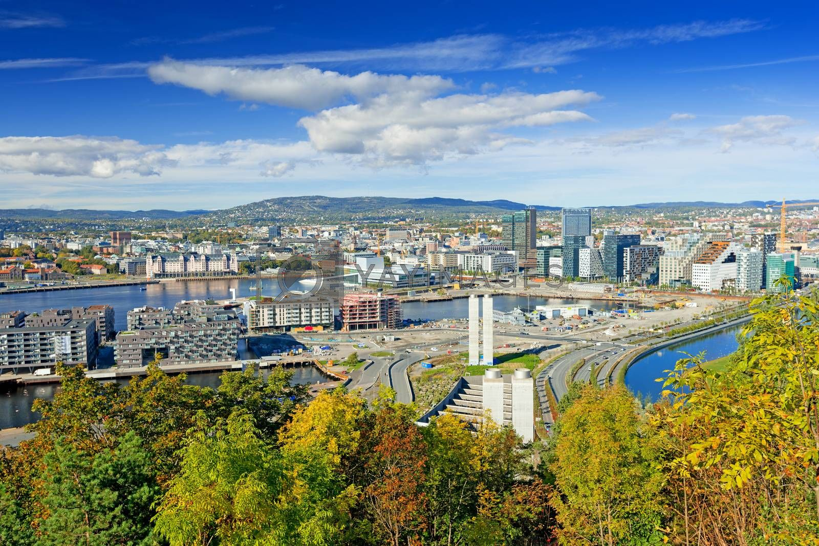 View of Oslo city Norway by Nanisimova