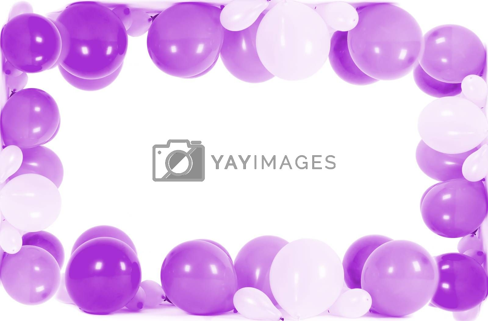Colourful balloons isolated in shape of frame by Nanisimova