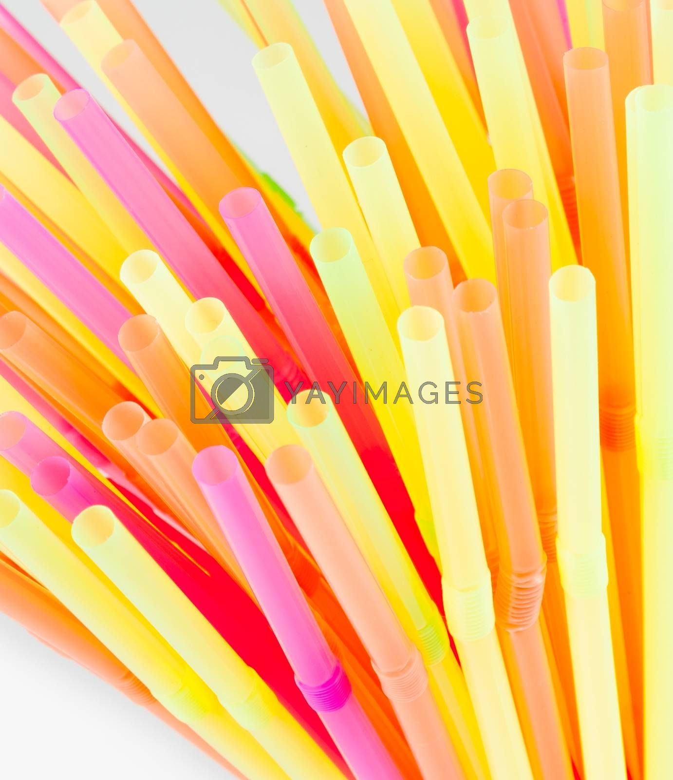 drinking colorful straws  by donfiore