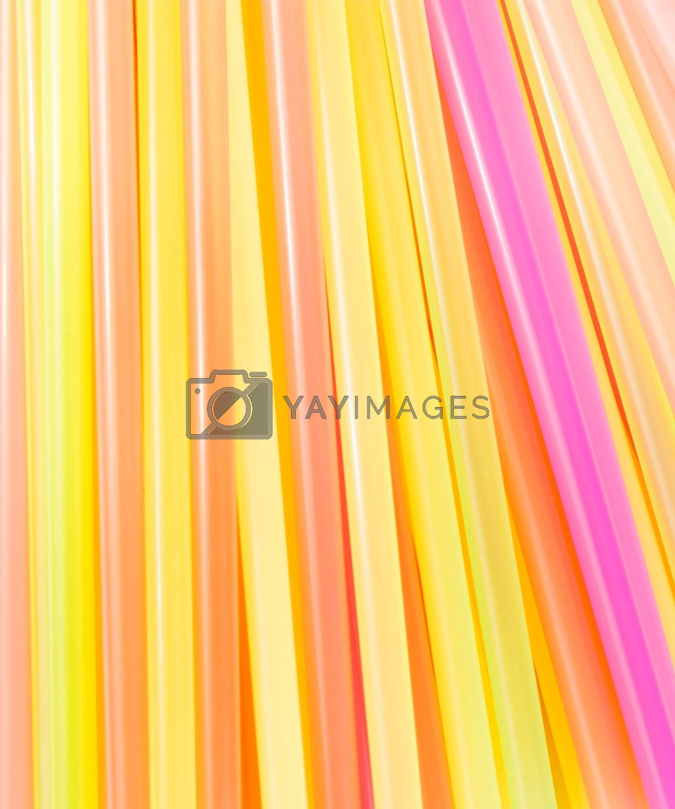 drinking straws colorful for background by donfiore