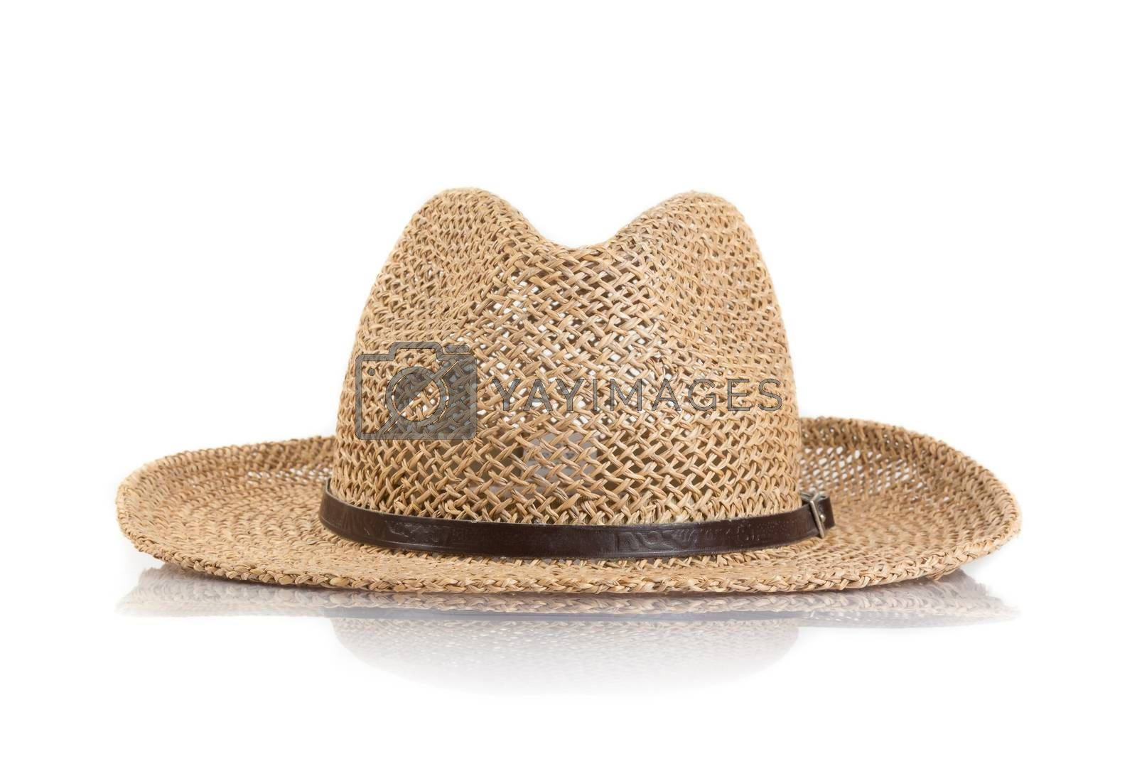 Summer straw hat isolated by donfiore