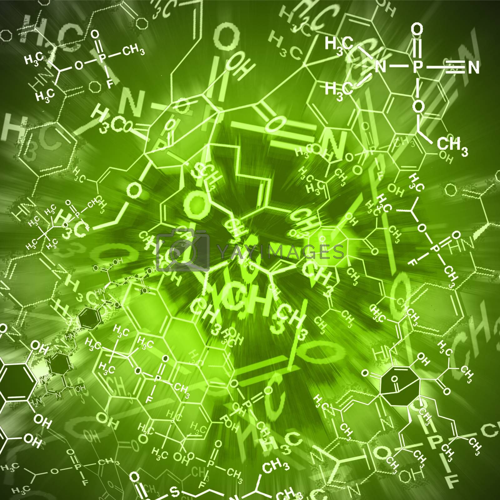 Image of chemical technology abstract background. Science wallpaper with school chemistry formulas and structures. by wektorygrafika