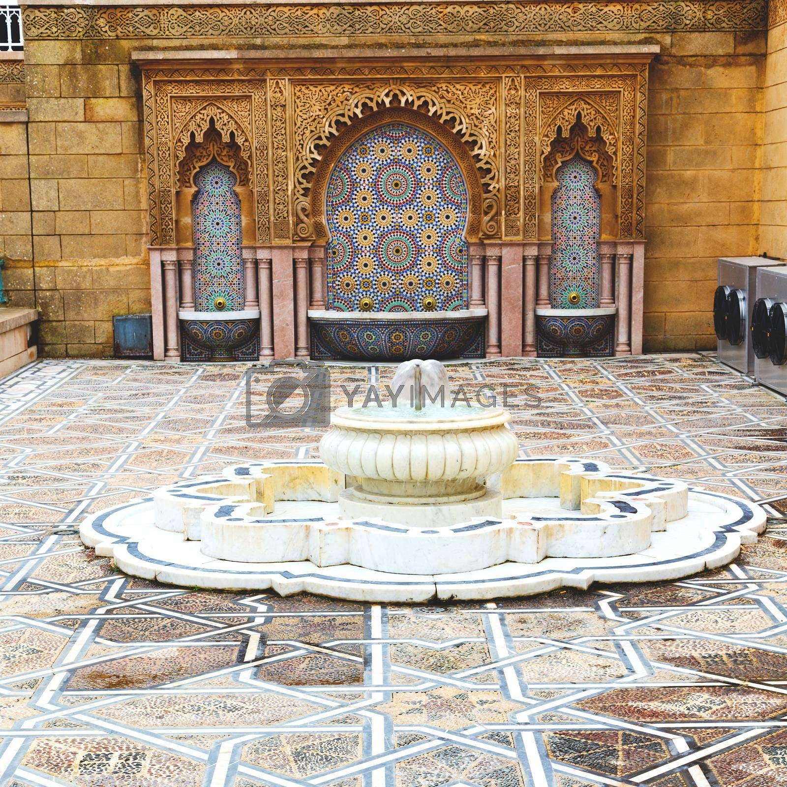 fountain in morocco africa old antique construction  mousque pal by lkpro