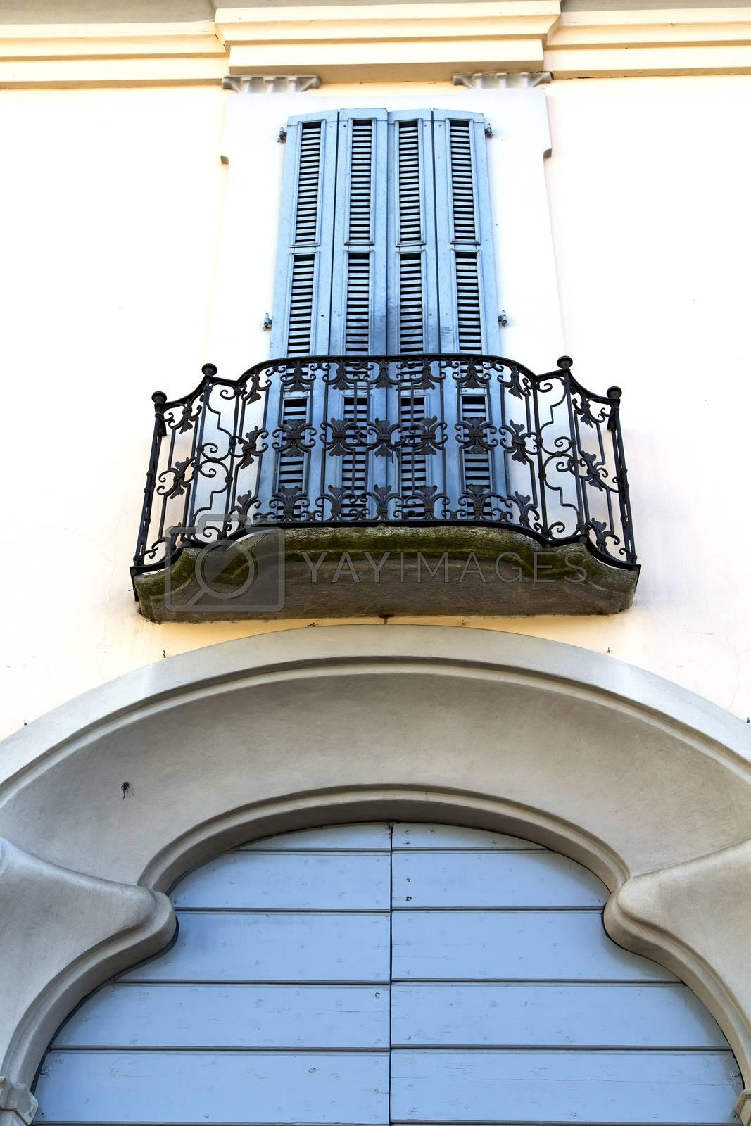 n door  europe       in  the milano old   window closed brick   by lkpro
