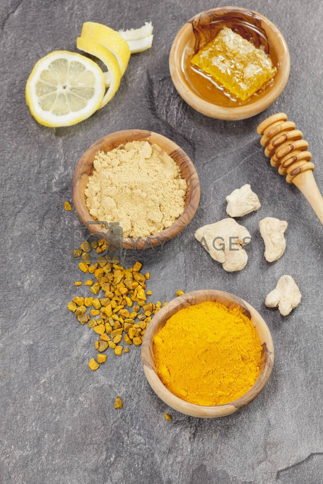 Ginger, Turmeric and honeycomb. by Slast20
