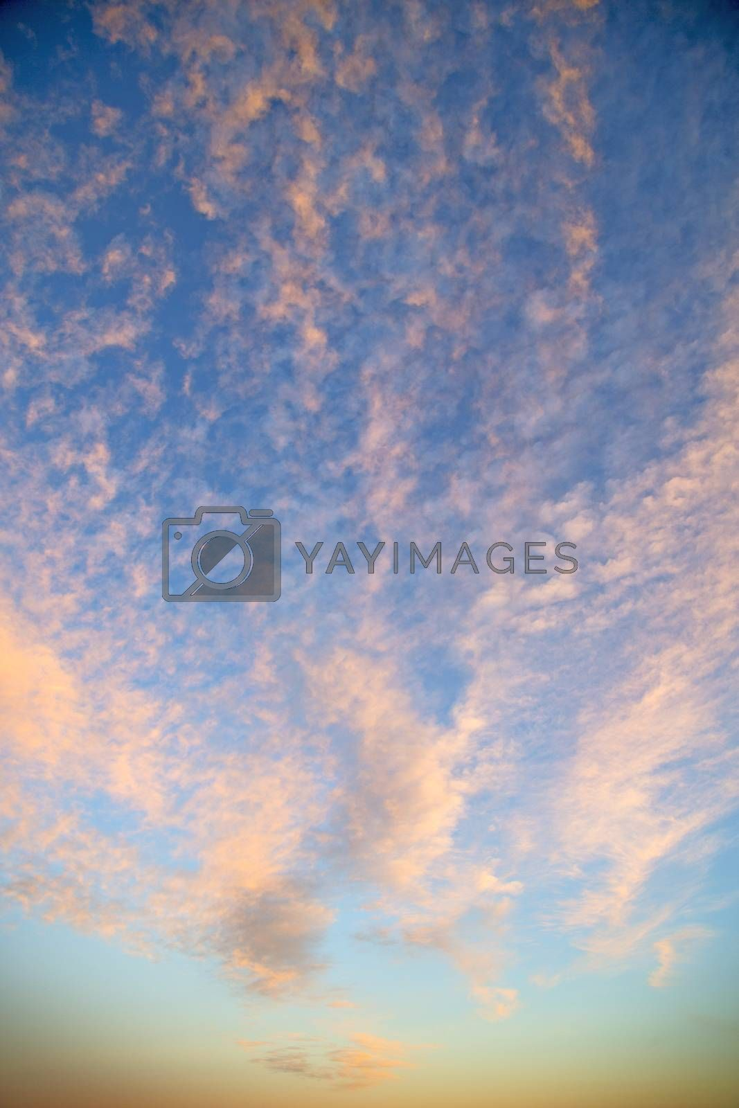 sunrise in the colored sky white soft clouds and abstract   by lkpro