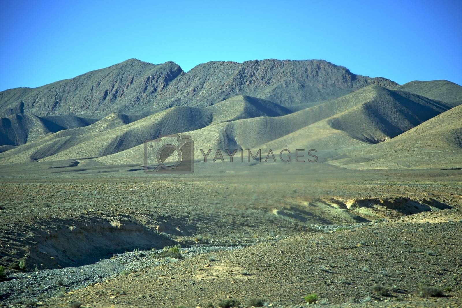 valley hill   in   africa morocco the atlas   by lkpro