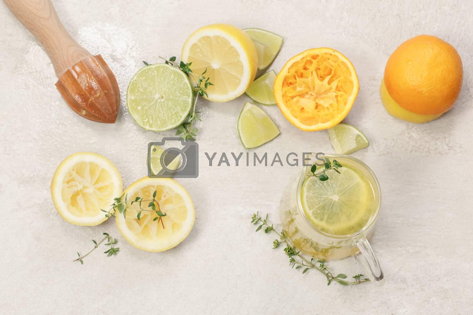 Preparing homemade lemonade by Slast20
