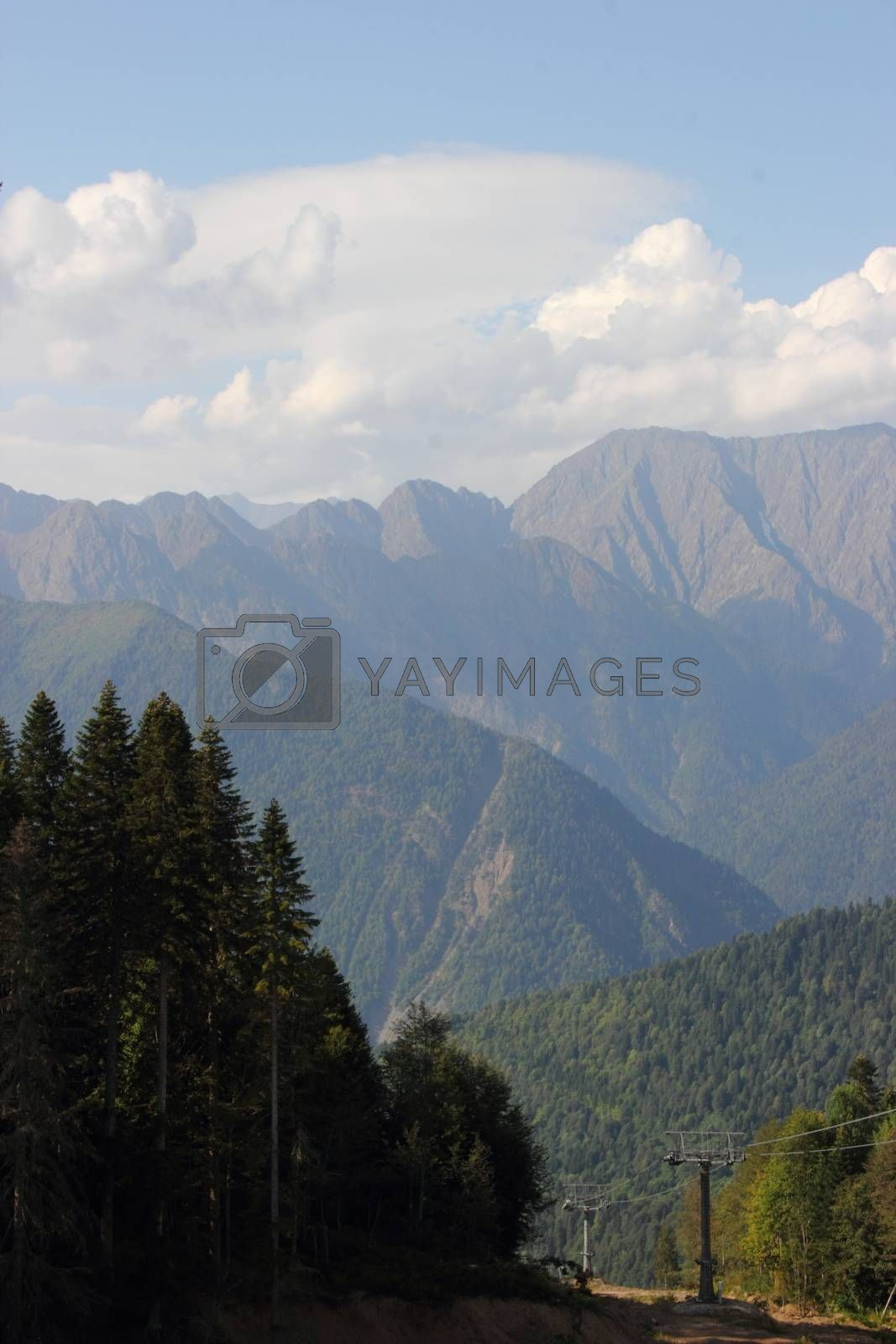 Mountain View in Sochi by Metanna