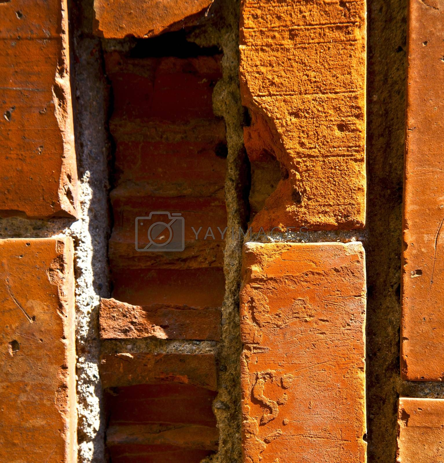 brick in the   centre   of cairate varese italy by lkpro