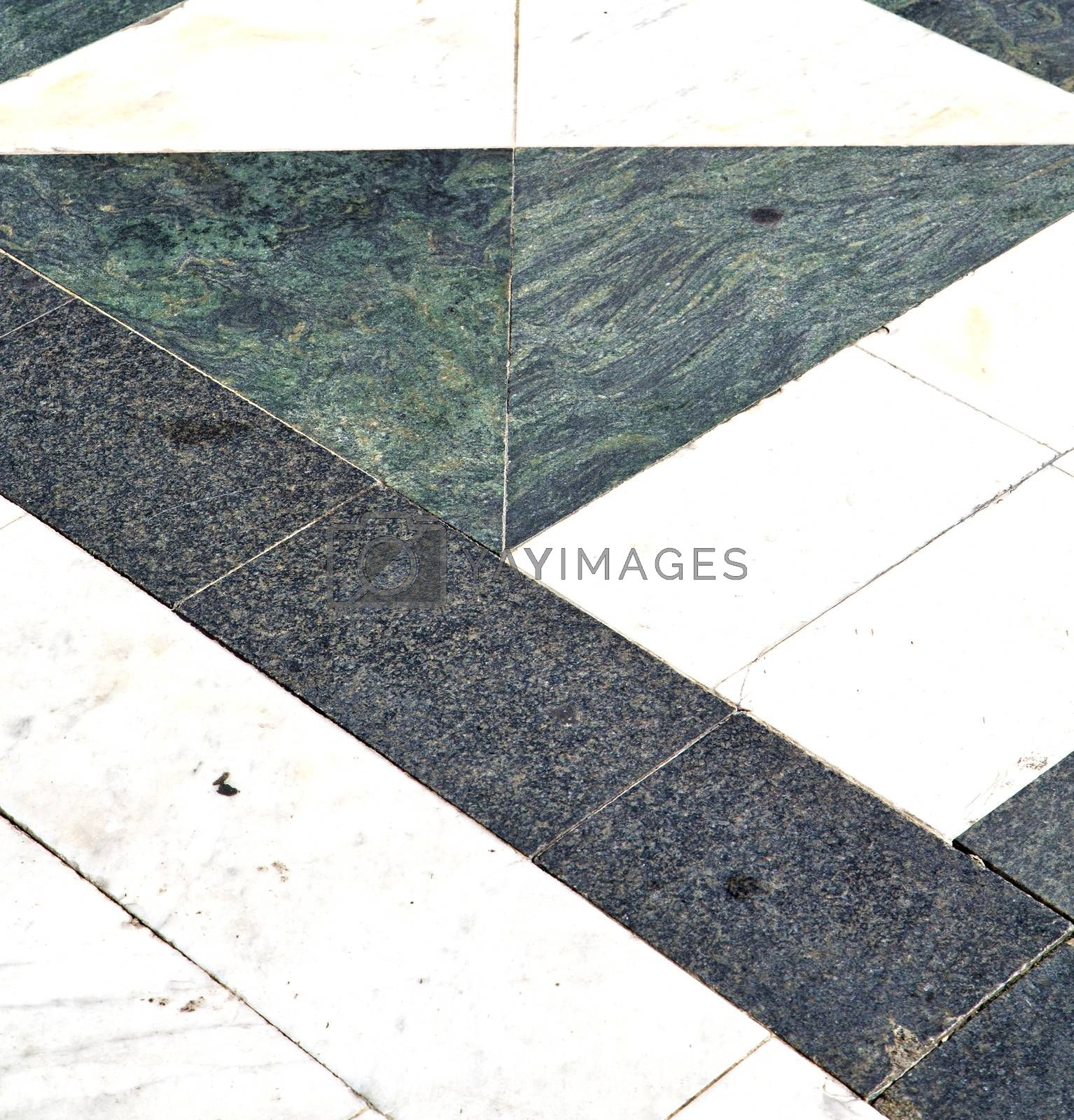 busto arsizio  street lombardy   abstract   pavement curch   by lkpro
