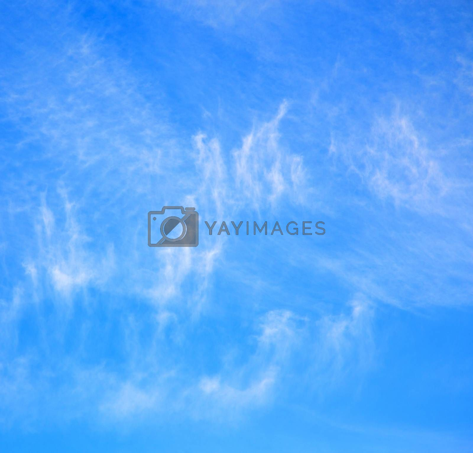 in the blue sky white soft clouds and abstract background by lkpro