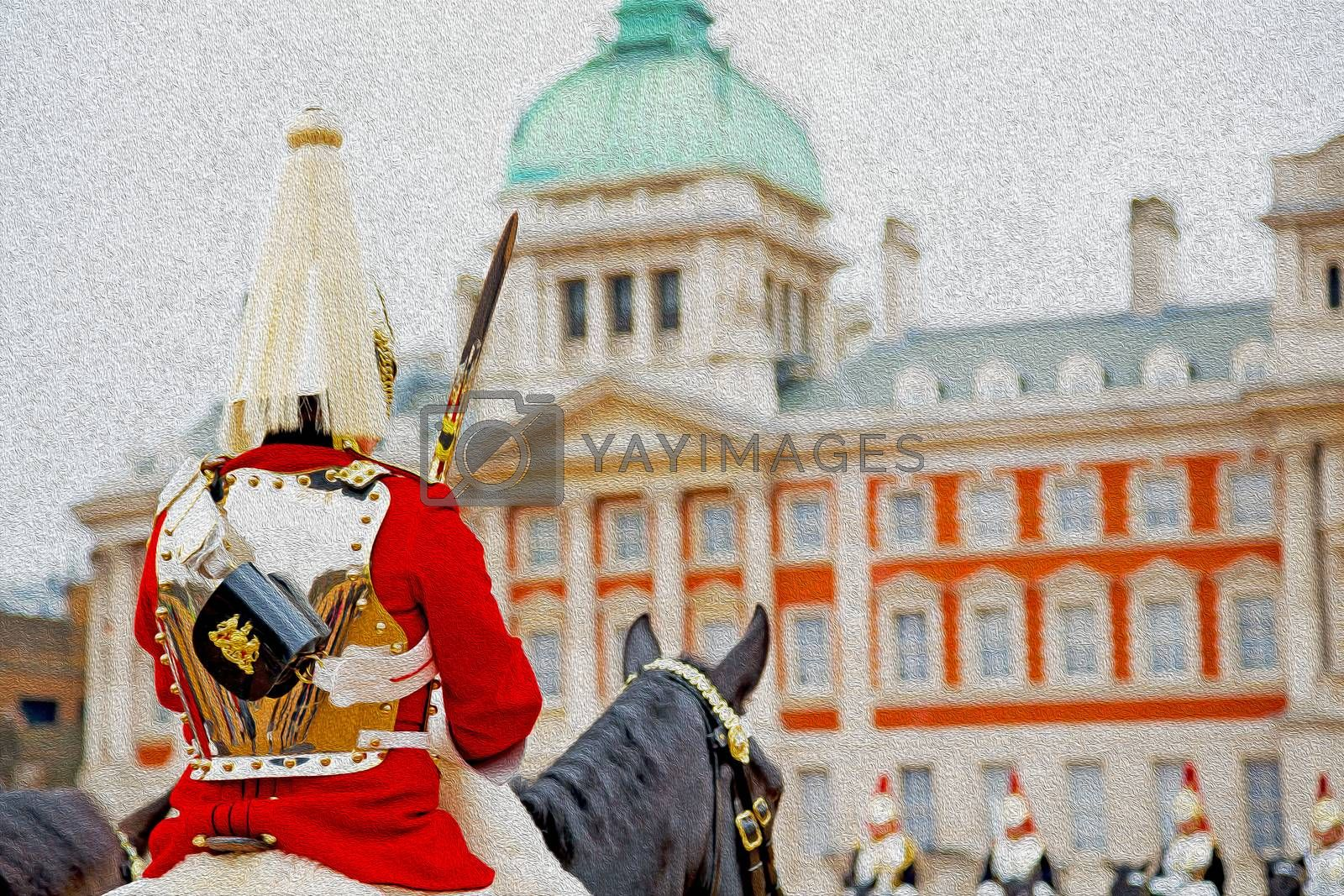 for    the queen in london england horse and cavalry  by lkpro