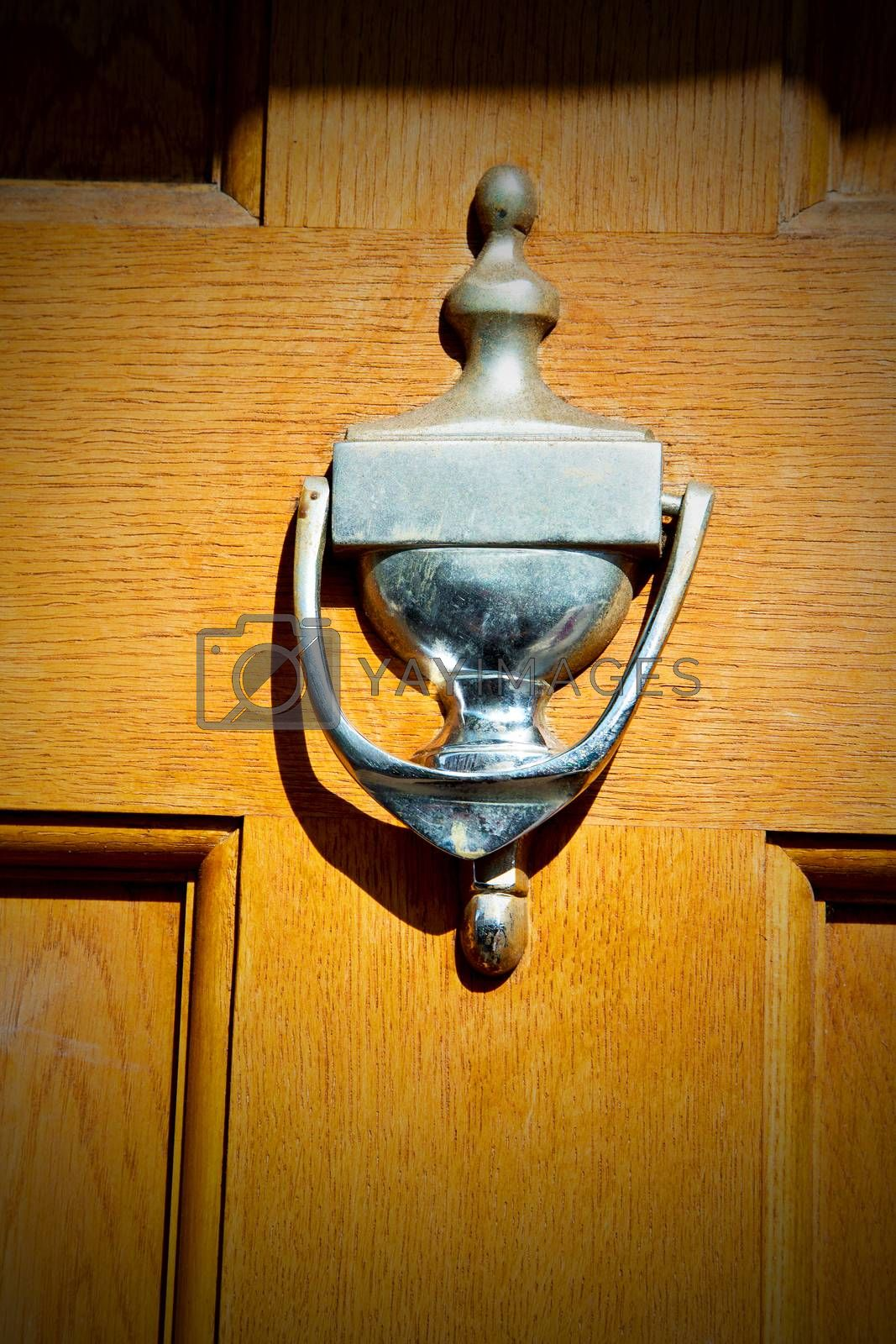 handle in london antique brown door  rusty  brass nail and light by lkpro