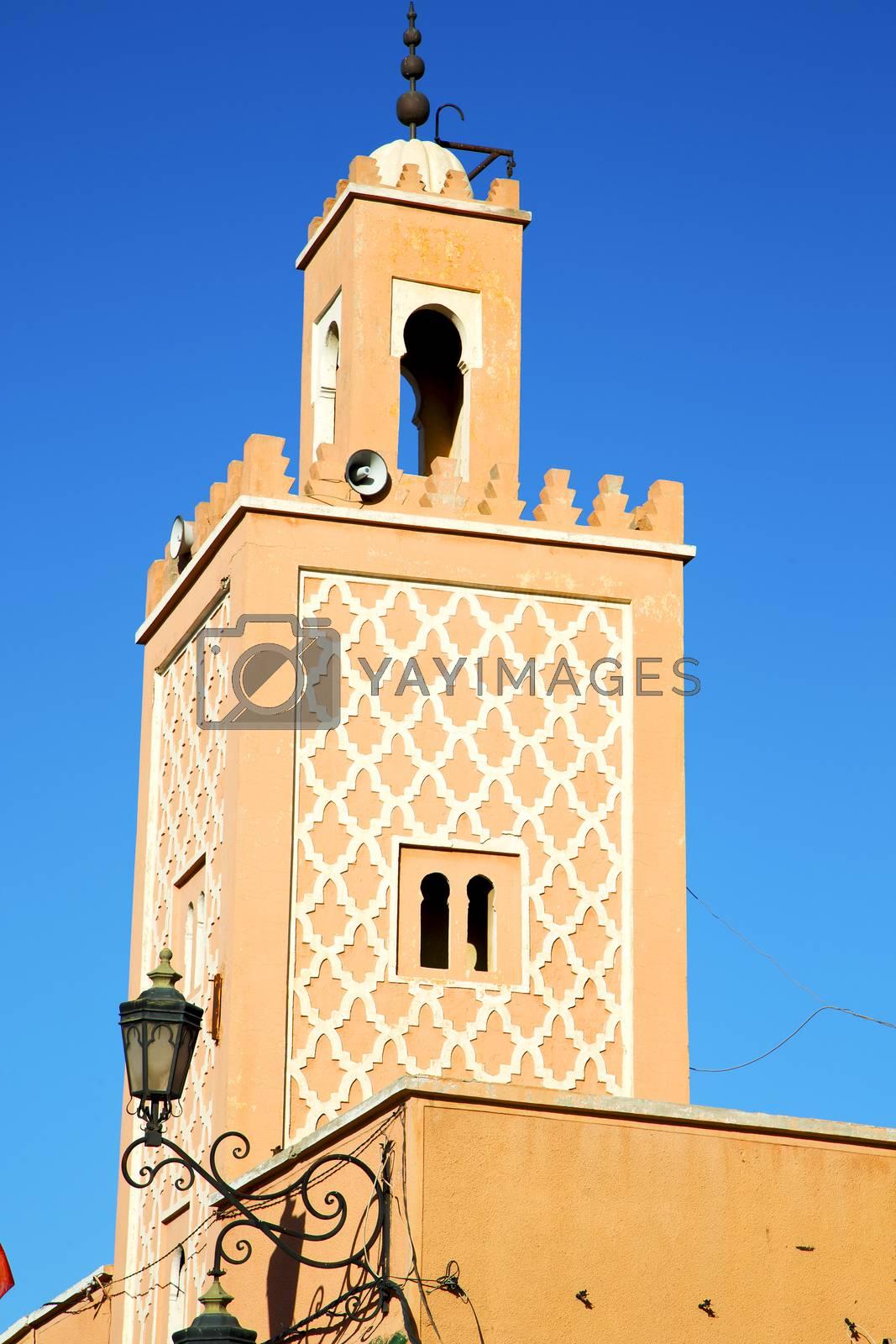 history in maroc africa  minaret street lamp by lkpro