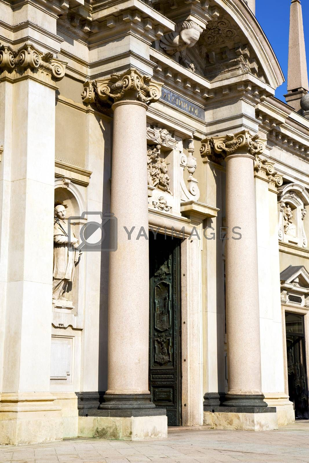 lombardy  the busto arsizio  old   church  closed brick italy  by lkpro