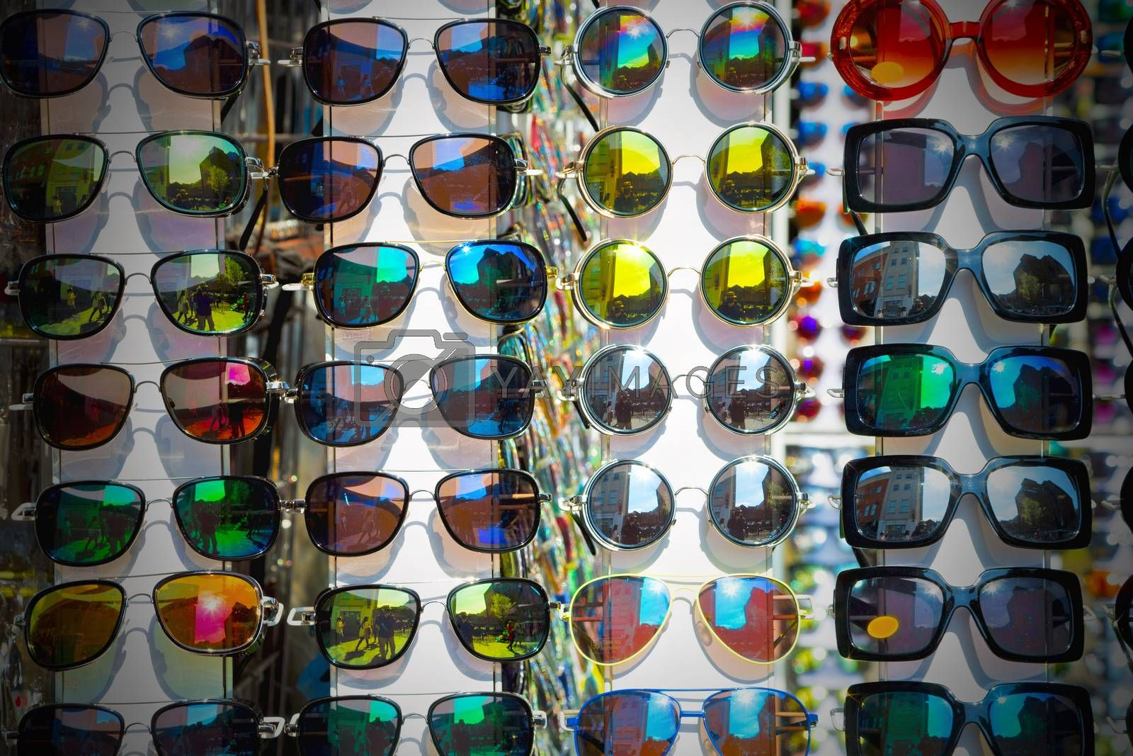 in london glass and sunglasses in the light and reflex by lkpro