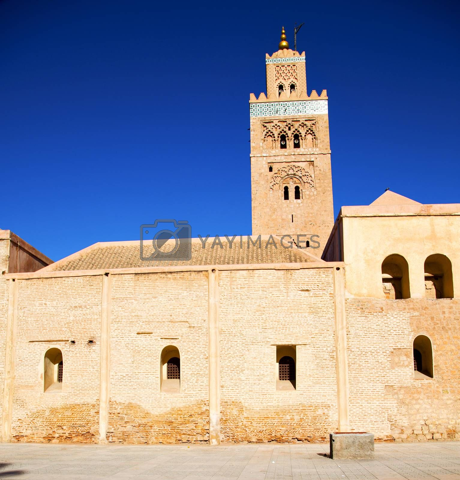 history in maroc africa  minaret religion and the blue     sky by lkpro