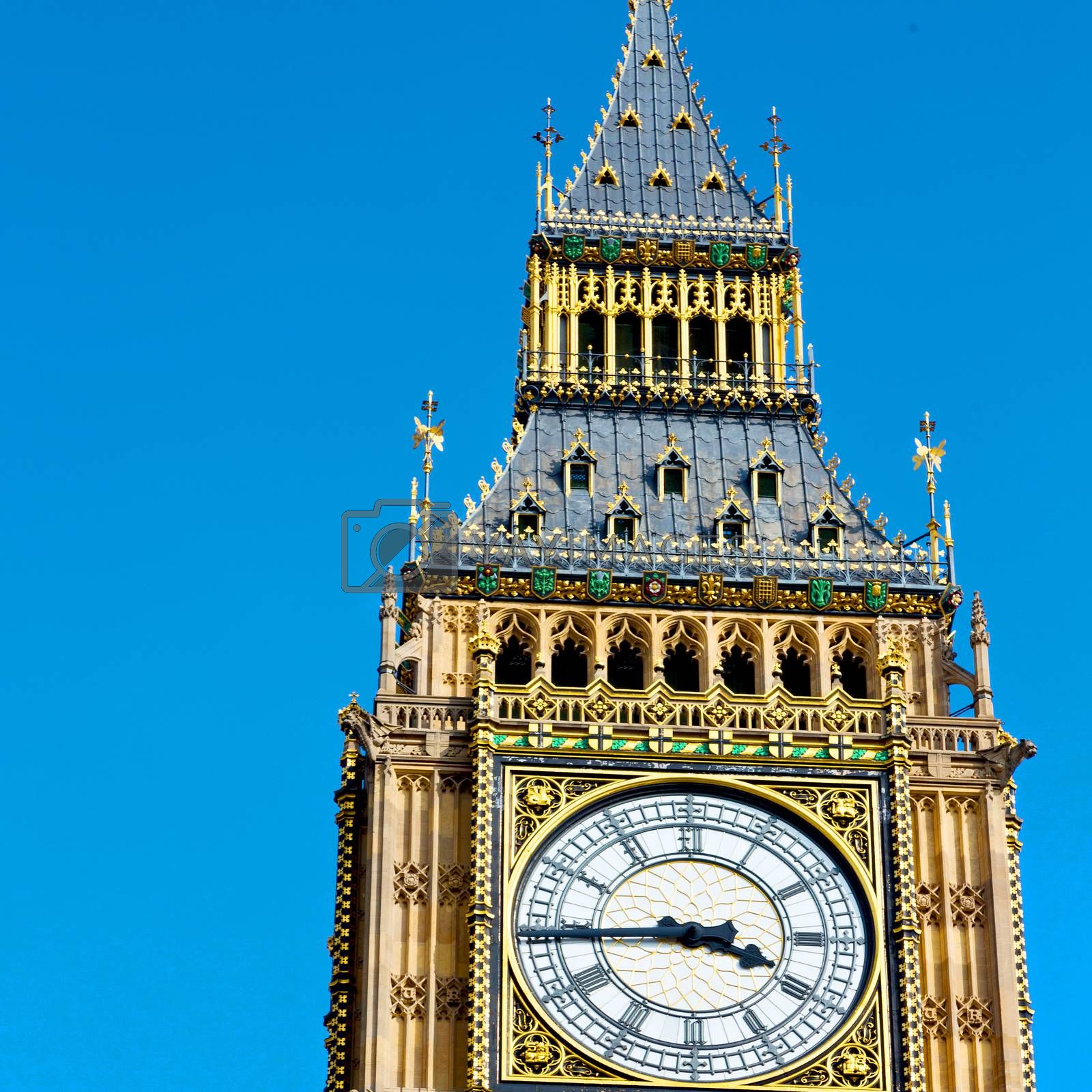 london big ben and historical old construction england  aged cit by lkpro