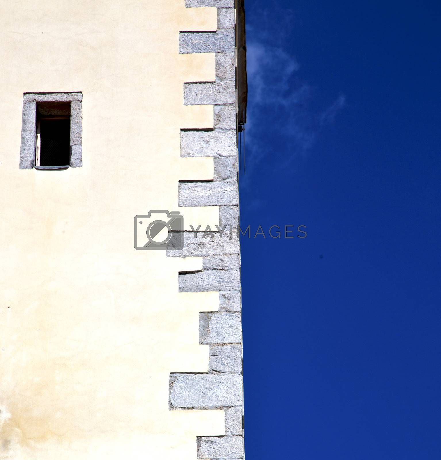 cross   lombardy italy  varese abstract    of a curch broke brik by lkpro