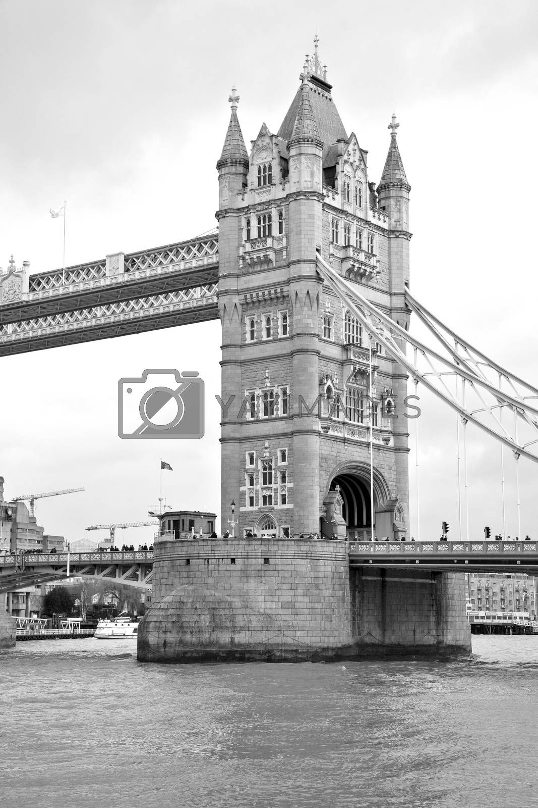 london tower in england old bridge and the cloudy sky by lkpro