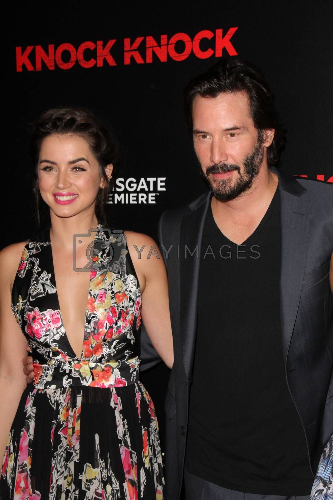"""Ana de Armas, Keanu Reeves at the """"Knock Knock"""" Los Angeles Premiere, TCL Chinese Theater, Hollywood, CA 10-08-15/ImageCollect by ImageCollect"""