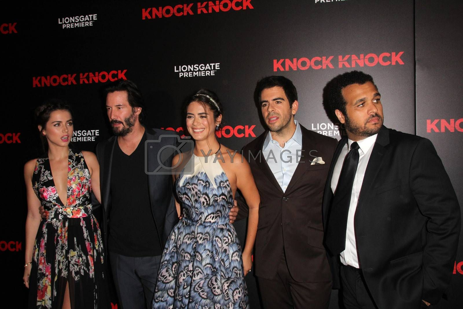 """Ana de Armas, Keanu Reeves, Lorenza Izzo, Eli Roth at the """"Knock Knock"""" Los Angeles Premiere, TCL Chinese Theater, Hollywood, CA 10-08-15/ImageCollect by ImageCollect"""