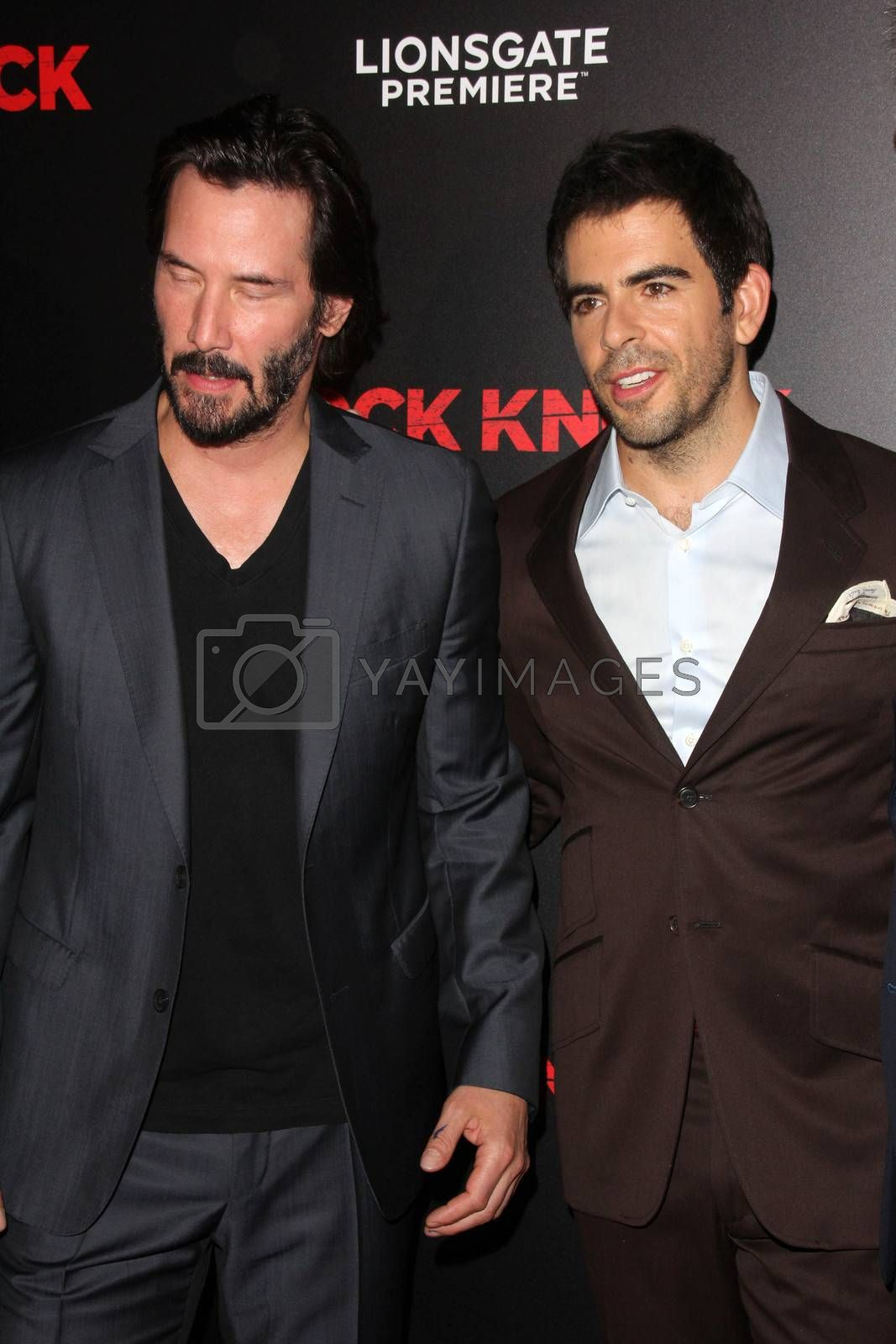 """Keanu Reeves, Eli Roth at the """"Knock Knock"""" Los Angeles Premiere, TCL Chinese Theater, Hollywood, CA 10-08-15/ImageCollect by ImageCollect"""