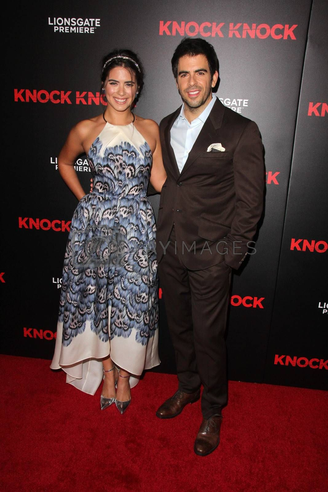 """Lorenza Izzo, Eli Roth at the """"Knock Knock"""" Los Angeles Premiere, TCL Chinese Theater, Hollywood, CA 10-08-15/ImageCollect by ImageCollect"""