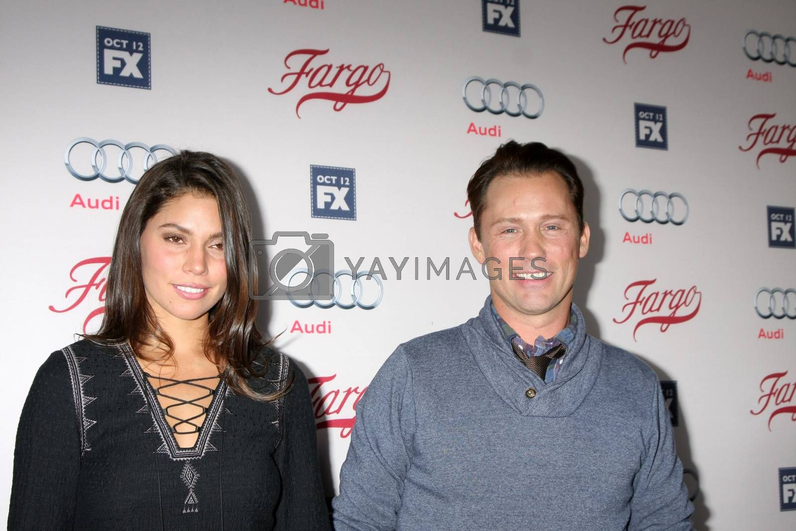 """Jeffrey Donovan, wife at the """"Fargo"""" Season 2 Premiere Screening, ArcLight, Hollywood, CA 10-07-15/ImageCollect by ImageCollect"""