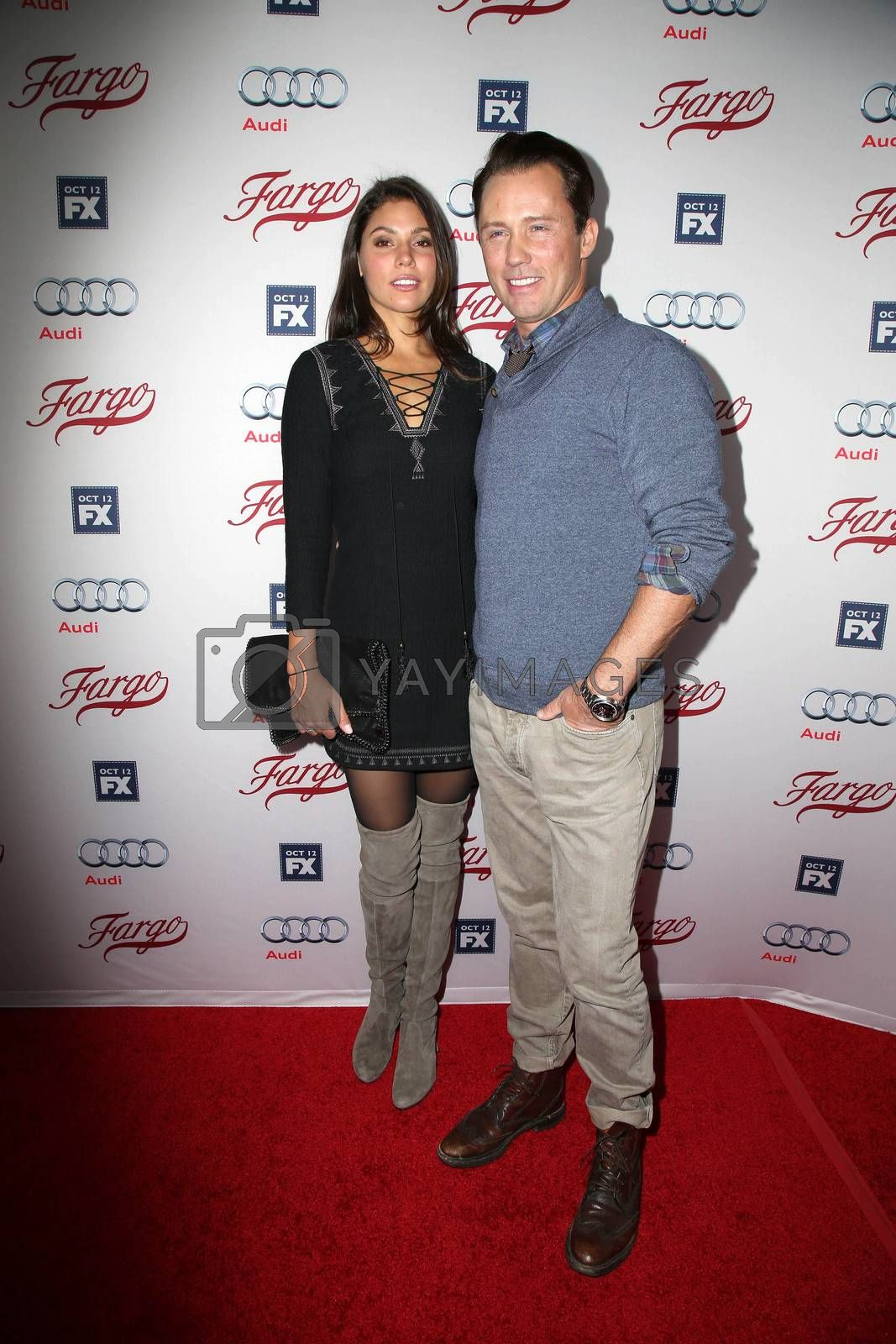 """Jeffrey Donovan and wife at the """"Fargo"""" Season 2 Premiere Screening, ArcLight, Hollywood, CA 10-07-15/ImageCollect by ImageCollect"""