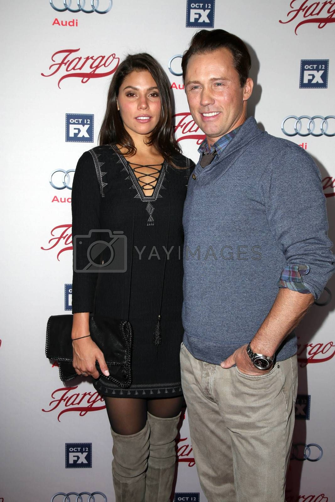 "Jeffrey Donovan and wife at the ""Fargo"" Season 2 Premiere Screening, ArcLight, Hollywood, CA 10-07-15/ImageCollect by ImageCollect"