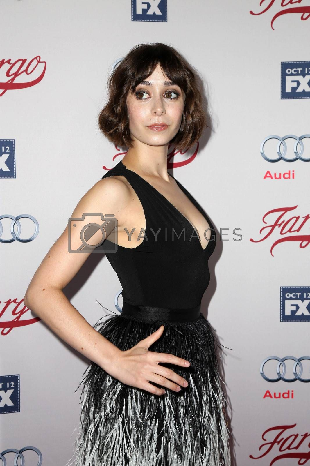 """Cristin Milioti at the """"Fargo"""" Season 2 Premiere Screening, ArcLight, Hollywood, CA 10-07-15/ImageCollect by ImageCollect"""