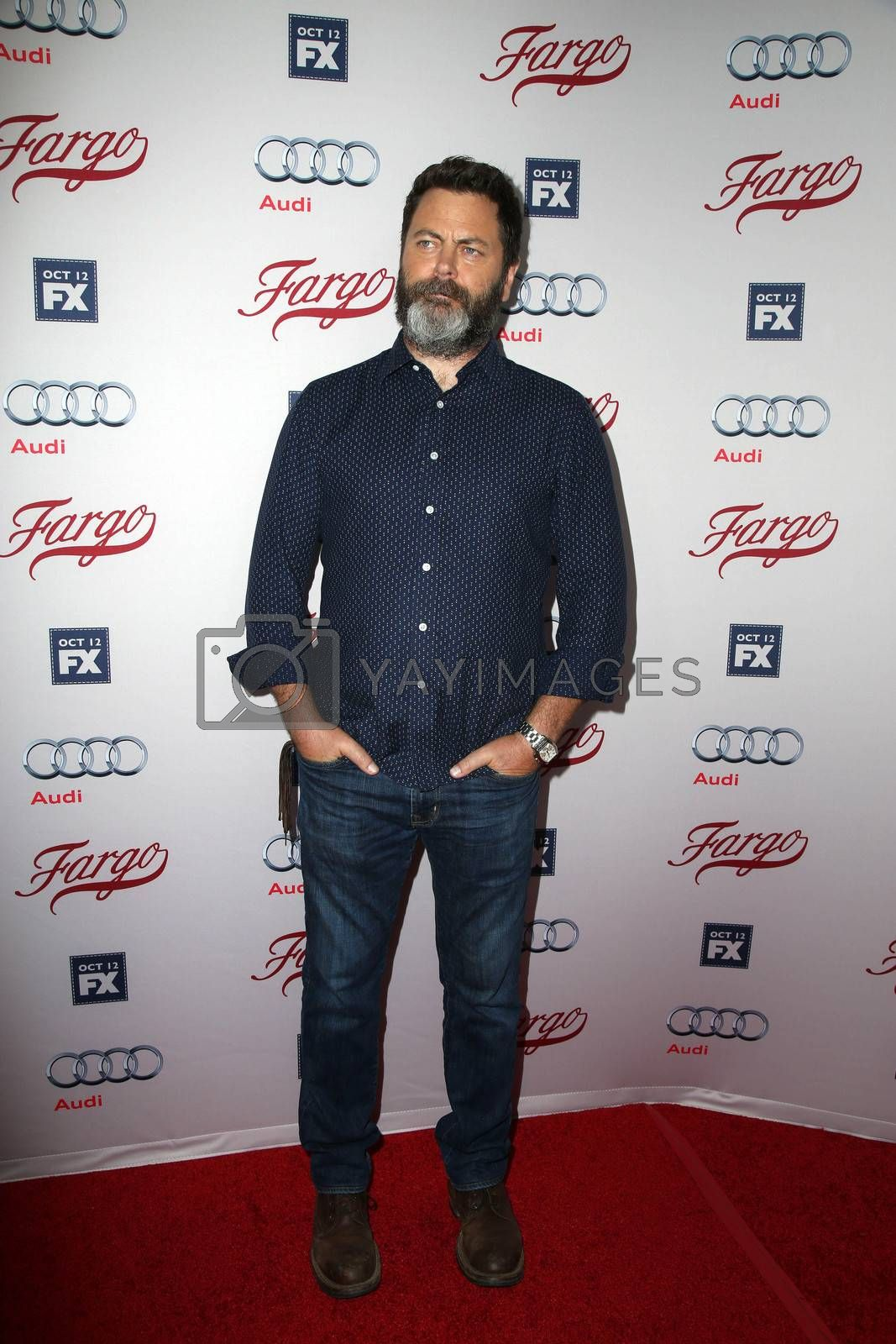 """Nick Offerman at the """"Fargo"""" Season 2 Premiere Screening, ArcLight, Hollywood, CA 10-07-15/ImageCollect by ImageCollect"""