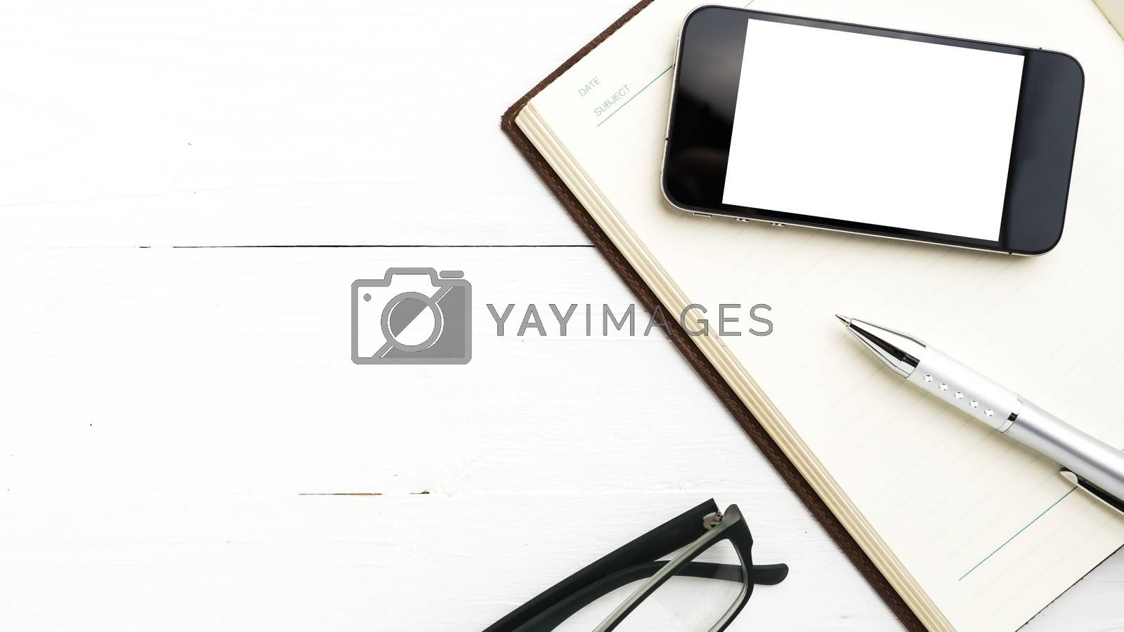 smart phone on notebook by ammza12