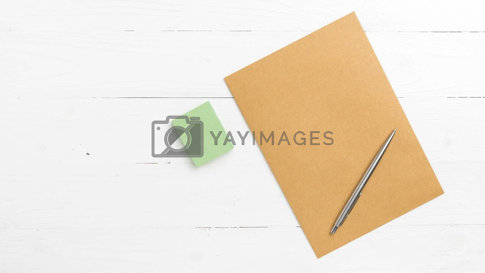 brown paper with sticky note by ammza12