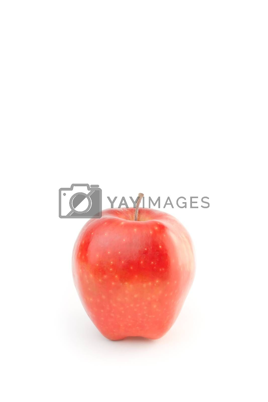 alternative medical care with red apple on white background with space for text