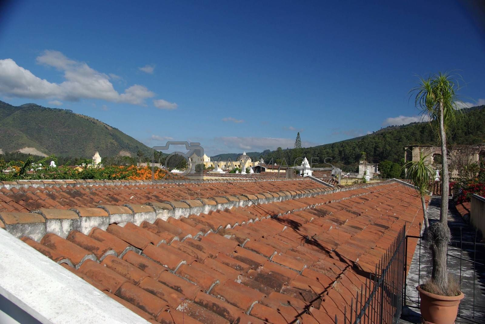 Royalty free image of Roofs in Antigua, Guatemala by pascalou95