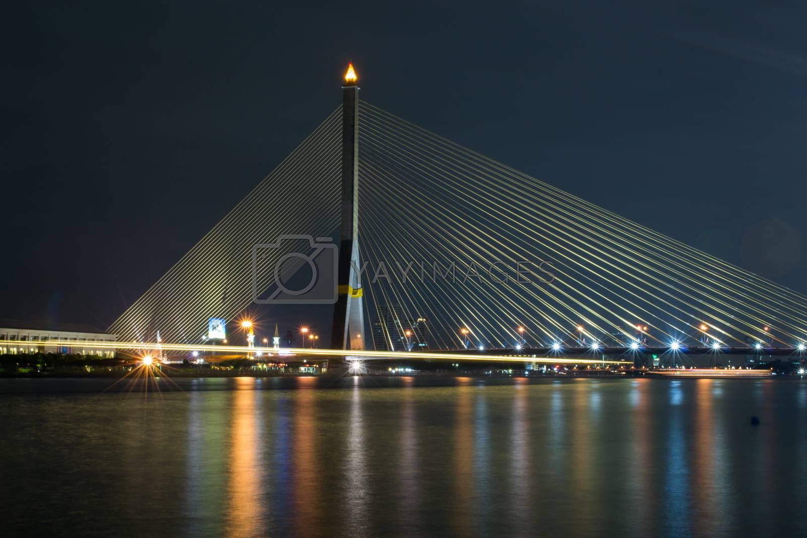 cityscape Bridge river view in bangkok